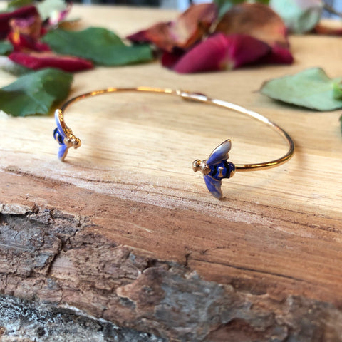 Lavender Bee Bangle