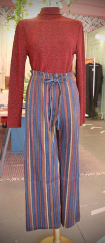 High Waist Stripe Trousers