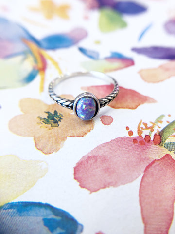 Candy Glitter Oval Stone Ring