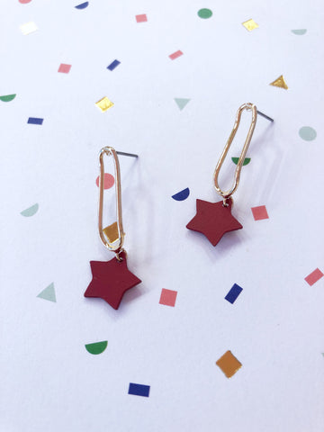 Little Red Stars Earrings