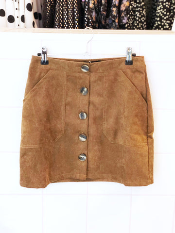 Fawn Corduroy Mini Skirt
