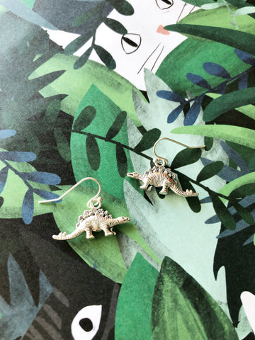 Silly Stegosaurus Earrings