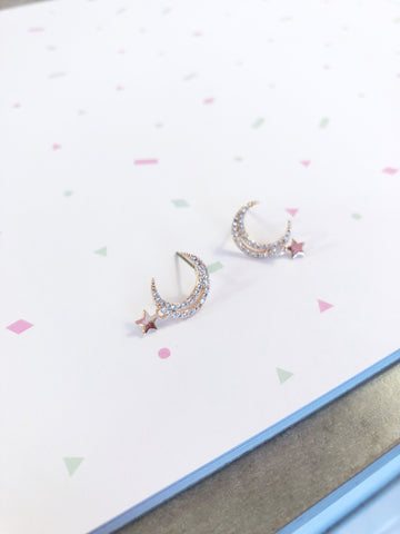Twinkle Moon and Star Earrings