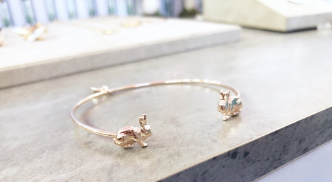 Rose Gold Bunny Bangle