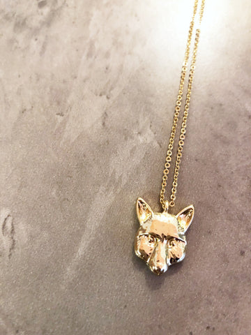 Golden Fox Necklace