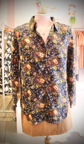 Autumn Floral Cord Shirt