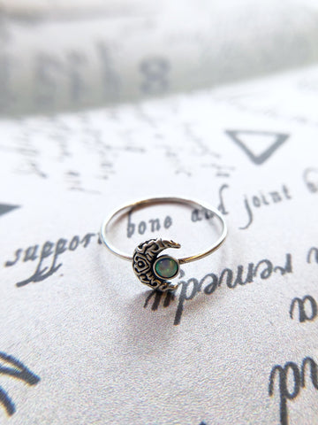 Mini Moon Shimmer Stone Ring