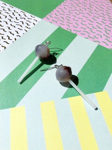 Chocolate Lollipop Earrings