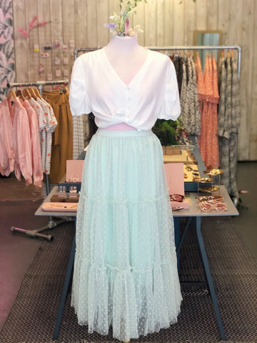 Palest Mint Tulle Skirt