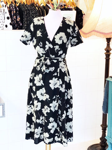 Monochrome Bloom Dress