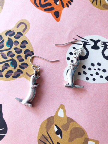 Olive Otter Earrings