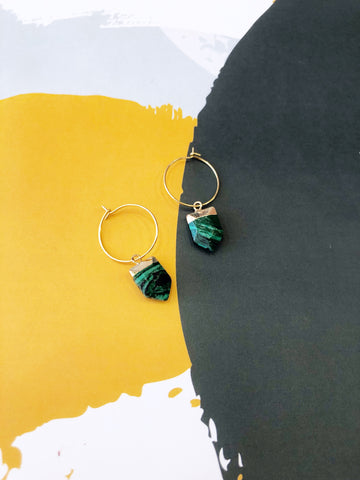 Green Malachite Hoops