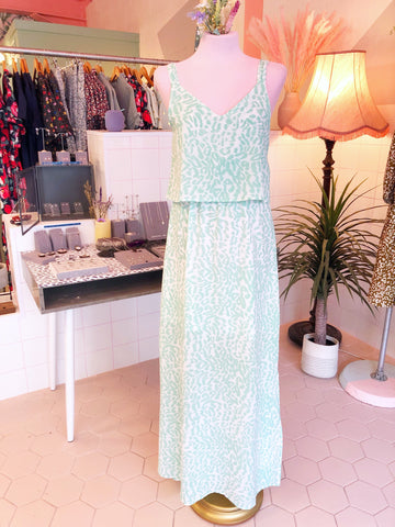 Mint Leopard Maxi Dress
