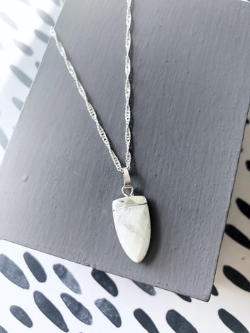 Howlite Shield Necklace