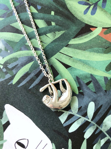 Sleepy Sloth Necklace