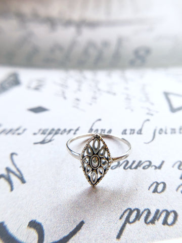 Boho Shield Ring