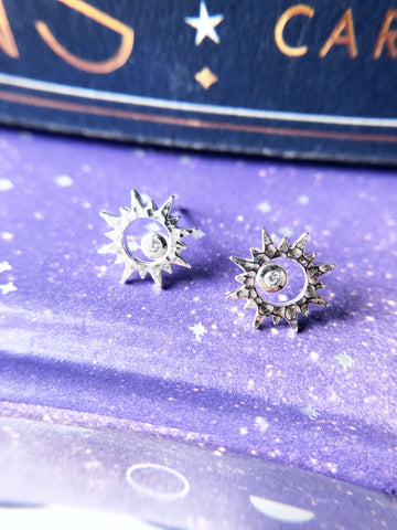 Crystal Sun Earrings