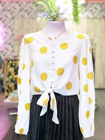 Mustard Spotty Blouse