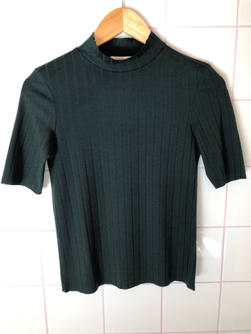 Forest Green Ribbed Top