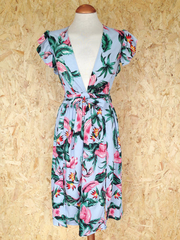 Tropical Plunge Dress
