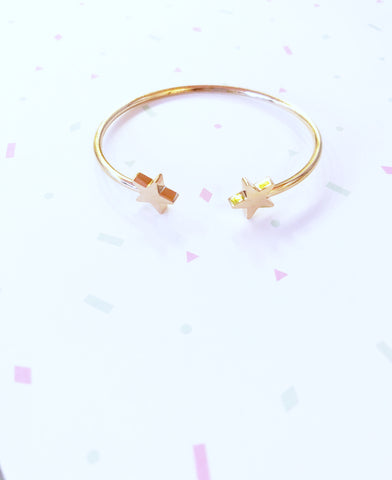 Rose Gold Stars Bangle