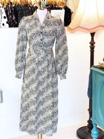 Snow Leopard Midi Dress