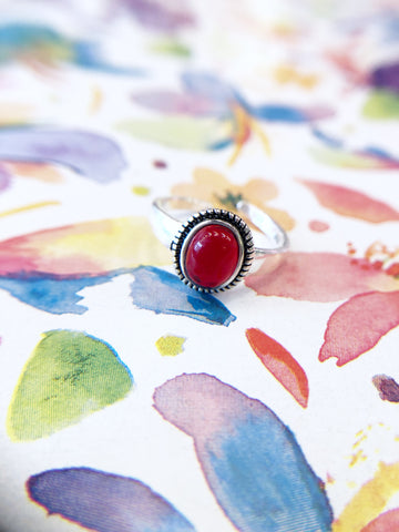 Ruby Red Stone Ring