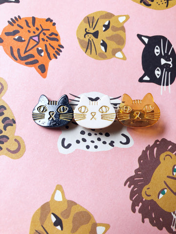 Cat Trio Hair Clip