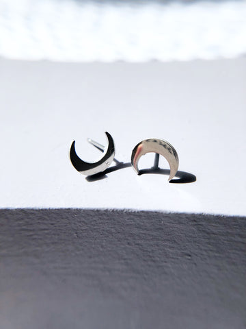 Simple Crescent Moon Earrings