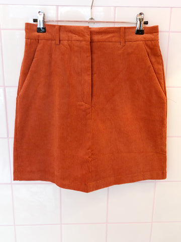 Pumpkin Cord Mini Skirt