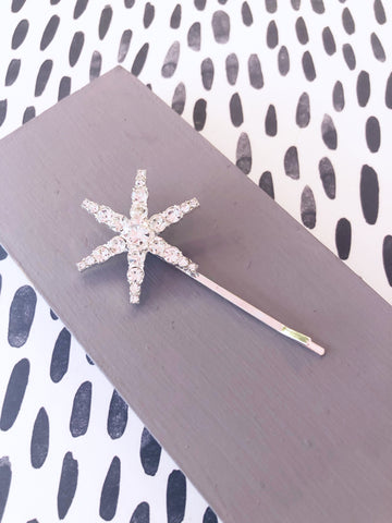 Crystal Star Flower Hairslide