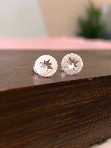 925 Sterling Silver Supernova Earrings