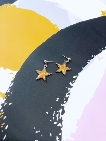 Peach Star Drop Earrings