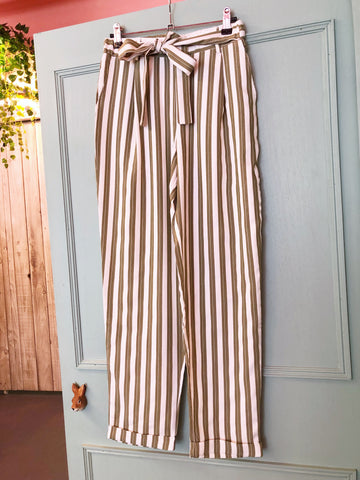 Stripy Sage Trousers