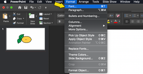 How to Edit Font in PowerPoint