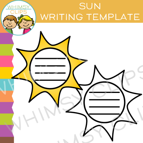 Sun Writing Template