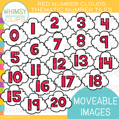 Thematic Red Number Cloud Tiles