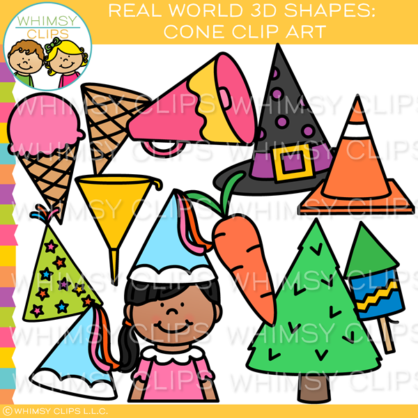 Real World 3D Cone  Clip Art