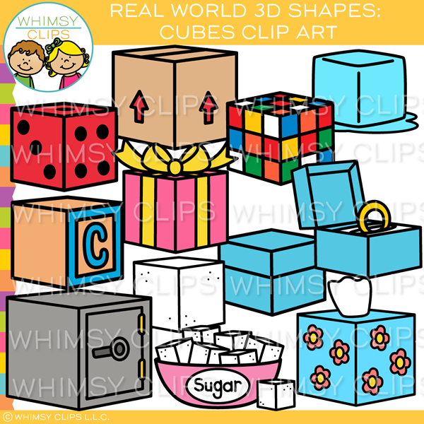 Real World 3D Cube Clip Art