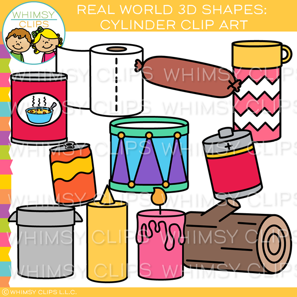 Real World 3D Cylinder Clip Art