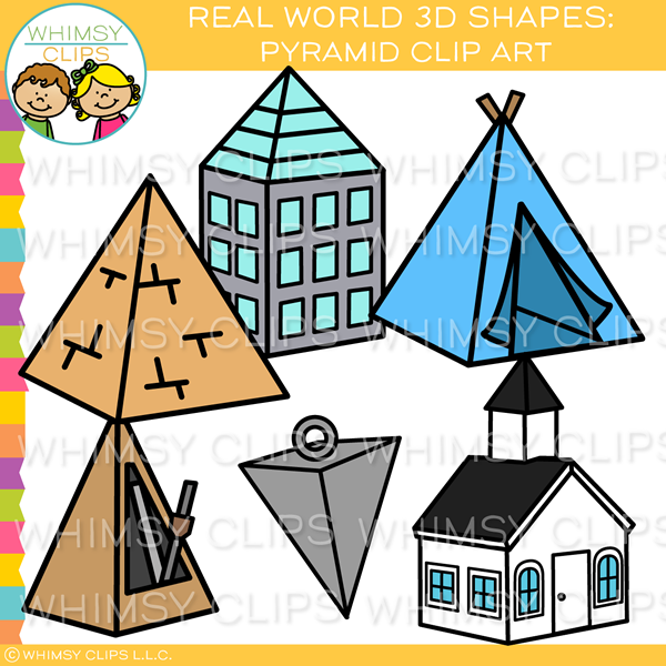 Real World 3D Pyramid Clip Art