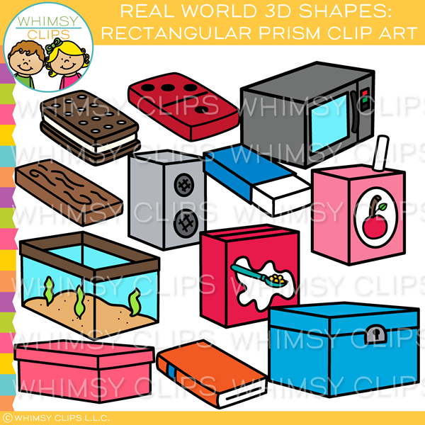 Real World 3D Rectangular Prism Clip Art