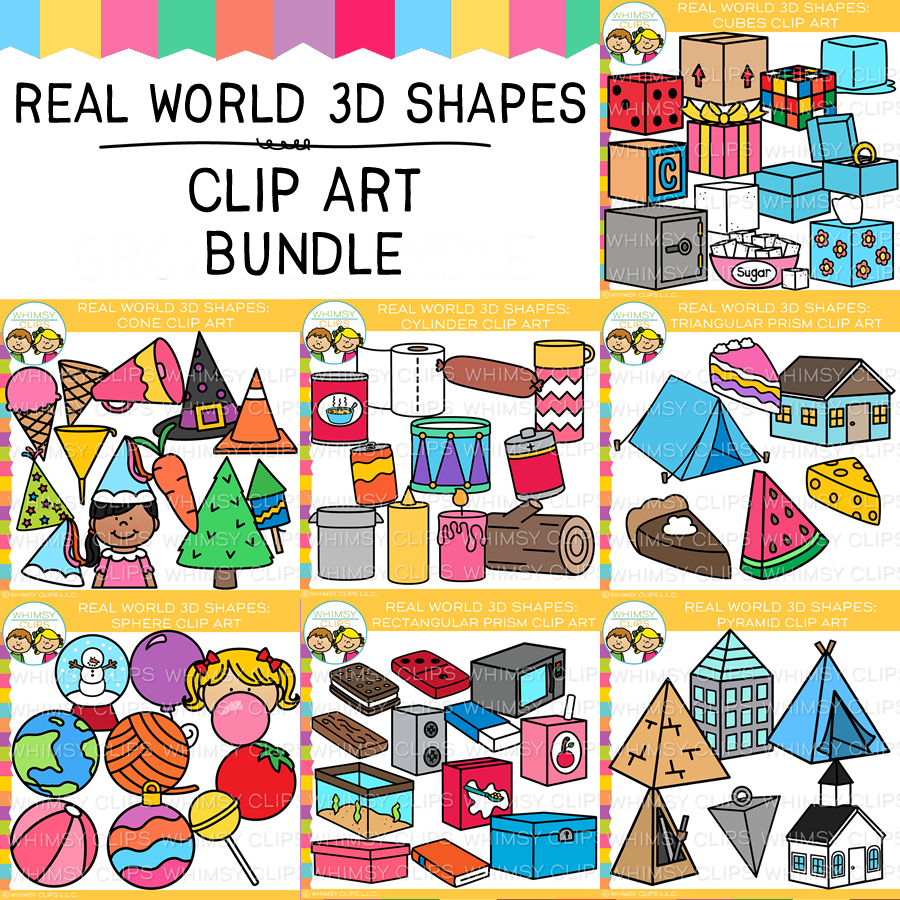 3D Real World Shapes Clip Art