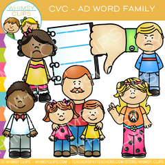 CVC Ad Words Clip Art