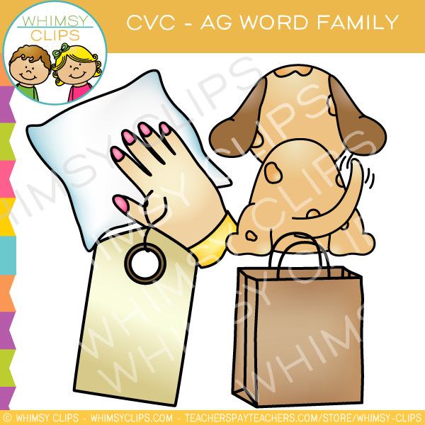 CVC -ag Word Family Clip Art {Volume One}
