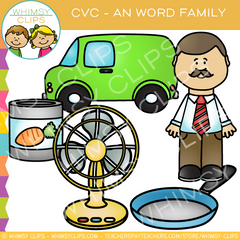 CVC -an Word Family Clip Art