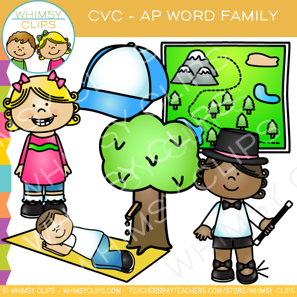 CVC -ap Word Family Clip Art {Volume One}
