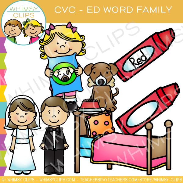 CVC -ed Word Family Clip Art {Volume One}