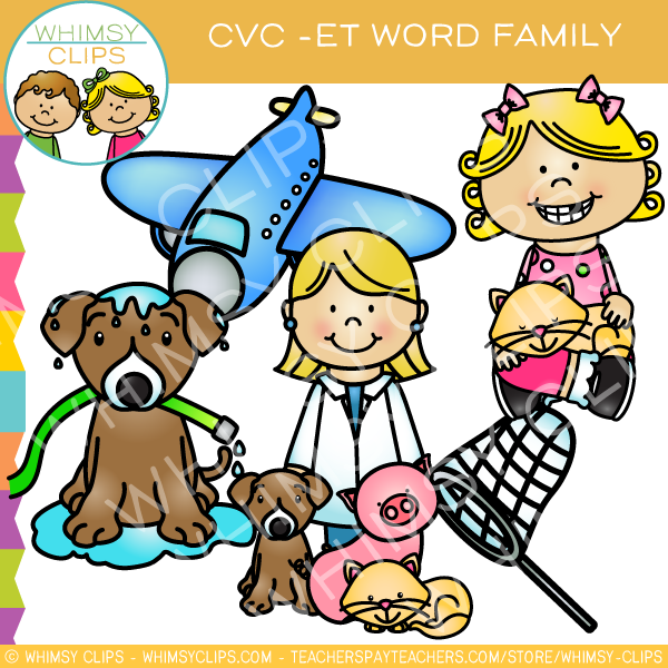 cvc et word family clip art volume one images illustrations rh whimsyclips com clip art word raku clip art wording