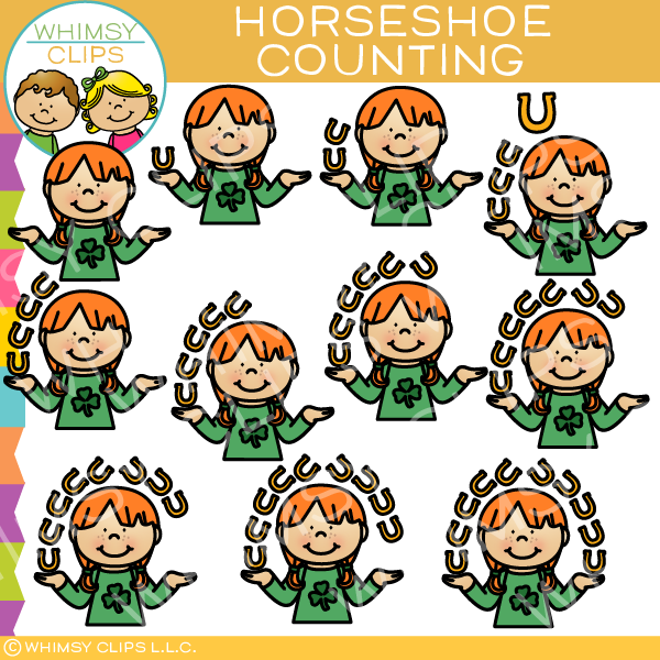 Horseshoe Counting Clip Art